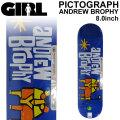 GIRL ガール スケートボード デッキ PICTOGRAPH SERIES ANDREW BROPHY アンドリュー・ブロフィー [GL-46] 8.0inch スケボー パーツ SKATE BOARD DECK