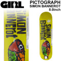 GIRL ガール スケートボード デッキ PICTOGRAPH SERIES SIMON BANNEROT サイモン・バナロット [GL-47] 8.0inch スケボー パーツ SKATE BOARD DECK