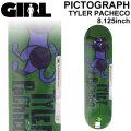 GIRL ガール スケートボード デッキ PICTOGRAPH SERIES TYLER PACHECO タイラー・パチェコ [GL-48] 8.125inch スケボー パーツ SKATE BOARD DECK
