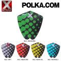 デッキパッド ショートボード用 X-TRAK エックストラック POLKA.COM 3ピース デッキパッチ デッキパット サーフィン