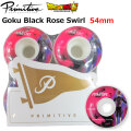 primitive ドラゴンボール超 プリミティブ ウィール 54mm [PR2] PRIMITIVE GOKU BLACK ROSE SWIRL ドラゴンボールスーパー DRAGON BALL SUPER スケートボード スケボー パーツ SK8