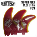 PROTECK FIN プロテックフィン SUPER FLEX 4.5 FCS [RED_YELLOW] スーパーフレックス トライフィン