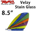 サーフィン フィン Rainbow Fin レインボーフィン Velzy Stain Glass 8.5 [144] ロングボード センターフィン