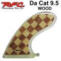 Rainbow Fin レインボーフィン Da Cat WOOD 9.5 [283] ステンドグラス ロングボード センターフィン シングル フィン