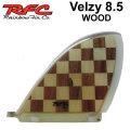 Rainbow Fin レインボーフィン Velzy WOOD 8.5 [285] ステンドグラス ロングボード センターフィン シングル フィン