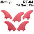[1点限り特別価格] Ratio Fin レイシオフィン RT-04 [13] ピンクメッシュ Mサイズ [FCS] ショートボード用トライクワッドフィン TRI QUAD FIN