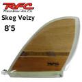 Rainbow Fin レインボーフィン Skeg (Velzy) WOOD [21] 8.5 ロングボード用フィン