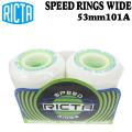スケートボード ウィール RICTA リクタ SPEED RINGS WIDE 53mm 101A スケボー ウィール ワイド