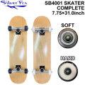 SILVER FOX シルバーフォックス スケートボード コンプリート SB4001 SKATER [Natural] [7.75×31.0] SK8 スケボー 完成品 組み立て済み SKATE BOARD COMPLETE