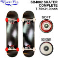 SILVER FOX シルバーフォックス スケートボード コンプリート SB4002 SKATER [Black] [7.75×31.0] SK8 スケボー 完成品 組み立て済み SKATE BOARD COMPLETE
