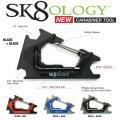 SK8OLOGY スケートオロジー スケートツール CARABINER SKATE TOOL カラビナ スケートボード ツール 万能 レンチ パーツ スケボー sk8
