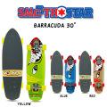 """SMOOTH STAR スムーススター スケートボード BARRACUDA 30"""" [バラクーダ 30インチ] サーフスケート コンプリート"""