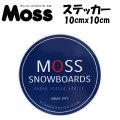 MOSS SNOWBOARDS モス スノーボード ステッカー [7]  [10cm x 10cm]