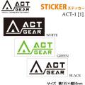スノーボード ステッカー ACT GEAR [ACT-1] 【1】アクトギア カッティングステッカー