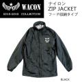 [現品限り特別価格]  WACON スノーボードウェア  ナイロンZIP JACKET フード収納タイプ ワコン ウエア フードジャケット