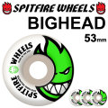 SPITFIRE スピットファイアー ウィール BIGHEAD 53mm [WHITE] spitfire wheel SKATE SK8 スケート spit fire