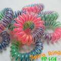 SpiraRing 【スパイラリング】  クリアー レインボーカラー  2color ヘアゴム