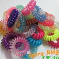 SpiraRing 【スパイラリング】  クリアー グラデーションカラー  17color ヘアゴム