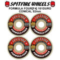 SPIT FIRE スピットファイアー ウィール F4 FORMULA FOUR CONICAL FULL 52mm 101DURO(101A) [SP26] スケートボード スケボー パーツ SKATE BOARD WHEEL SK8