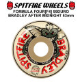 SPIT FIRE スピットファイアー ウィール F4 FORMULA FOUR BRADLEY AFTER MIDNIGHT 53mm 99DURO(99A) [SP32] スケートボード スケボー パーツ SKATE BOARD WHEEL SK8