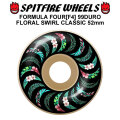 SPIT FIRE スピットファイアー ウィール F4 FORMULA FOUR FLORAL SWIRL CLASSIC 52mm 99DURO(99A) [SP36] スケートボード スケボー パーツ SKATE BOARD WHEEL SK8