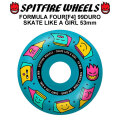 SPIT FIRE スピットファイアー ウィール F4 FORMULA FOUR SK8 LIKE A GIRL 53mm 99DURO(99A) [SP38] スケートボード スケボー パーツ SKATE BOARD WHEEL SK8