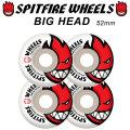 SPITFIRE スピットファイアー ウィール BIGHEAD 52mm [WHITE] spitfire wheel [S5] SKATE SK8 スケート spit fire