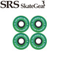 SRS Skate Gear エスアールエス スケート ギア ウィール CONTINENTAL WHEEL 62mm 78A [ GREEN ] SK8 スケートボード スケボー