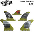 CAPTAIN FIN  キャプテンフィン Steve Sherma TRI QUAD SINGLE TAB 4.82 futureフィンプラグ トライクアッドフィン 5フィン