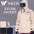 18-19 WACON スノーボードウェア メンズ STUDS スタッズ ワコン スノボジャケット