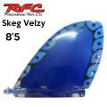 Rainbow Fin レインボーフィン Staind Glass Fin Skeg (Velzy) [74] 8.5 ステンドグラス ロングボード用フィン