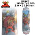 TOY MACHINE トイマシーン スケートボード デッキ MARKS UNDER THE BED (8.0× 31.84) [TM-16] スケートデッキ スケボー パーツ SK8 SKATE BOARD DECK