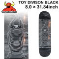 TOY MACHINE トイマシーン スケートボード デッキ TOY DIVISON BLACK (8.0× 31.84) [TM-19] スケートデッキ スケボー パーツ SK8 SKATE BOARD DECK