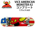 TOY MACHINE トイマシーン スケートボード コンプリート VICE AMERICAN MONSTER #02 (31.25x 7.875)  [5] 完成品スケボー SKATE