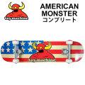 TOY MACHINE トイマシーン スケートボード コンプリート AMERICAN MONSTER (31.75x 7.75)  [1] 完成品スケボー SKATE