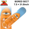 TOY MACHINE トイマシーン スケートボード デッキ BORED SECT (7.5 × 31.0) [TM-27] スケートデッキ スケボー パーツ SK8 SKATE BOARD DECK