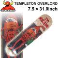 TOY MACHINE トイマシーン スケートボード デッキ TEMPLETON OVERLORD (7.5 × 31.0) [TM-28] スケートデッキ スケボー パーツ SK8 SKATE BOARD DECK