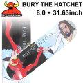TOY MACHINE トイマシーン スケートボード デッキ BURY THE HATCHET (8.0 × 31.63) [TM-43] スケートデッキ スケボー パーツ SK8 SKATE BOARD DECK