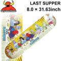 TOY MACHINE トイマシーン スケートボード デッキ LAST SUPPER (8.0 × 31.63) [TM-44] スケートデッキ スケボー パーツ SK8 SKATE BOARD DECK