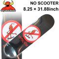 TOY MACHINE トイマシーン スケートボード デッキ NO SCOOTER (8.25 × 31.88) [TM-51] スケートデッキ スケボー パーツ SK8 SKATE BOARD DECK