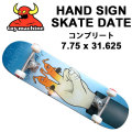 TOY MACHINE トイマシーン スケートボード コンプリート HAND SIGN SKATE DATE(7.75 × 31.625)  [8] 完成品スケボー SKATE