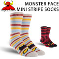 TOY MACHINE トイマシーン 靴下 ソックス MONSTER FACE MINI STRIPE SOCKS [24] [25] メンズ