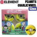 ELEMENT x PEANUTS Collectionエレメント ピーナッツ スヌーピー WHEEL ウィール CHARLIE [EL-3] 99A 52mm BB027-301 スケートボード パーツ 正規品