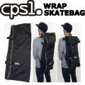 cpsl. 【カプセル】 WRAP SKATEBAG 【ラップスケートバック】 ブラック スケートボード バッグ ケース