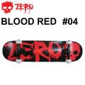 ZERO スケートボード コンプリート BLOODRED #04 [Z-1] ゼロ スケボー SK8