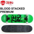 [follows特別価格] ZERO スケートボード コンプリート BLOOD STACKED PREMIUM [Z-3] ゼロ スケボー SK8 完成品 組み立て済み