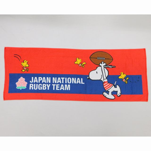 【ラグビー日本代表】スヌーピーコラボ ミニバスタオル[2274-57892]【1枚までメール便(ゆうパケット)対応可】