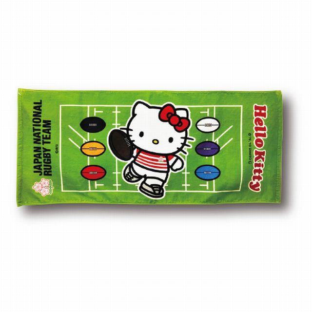 【ラグビー日本代表】ハローキティ フェイスタオル[フィールド]