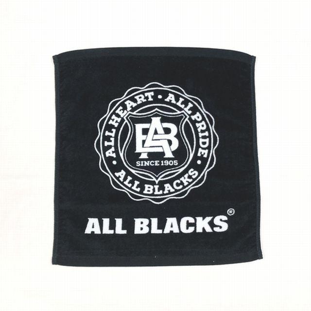【オールブラックス】染料プリントハンドタオル(ロゴ)