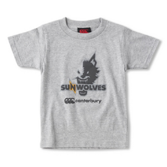 サンウルブズ キッズ Tシャツ [R37162SJ](100/120/140/150、ミディアムグレー/ブラック/レッド)【※セール品の為、購入後の返品交換不可】